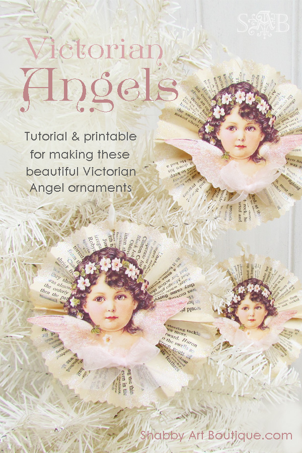 Shabby Art Boutique - Victorian Angel Ornaments