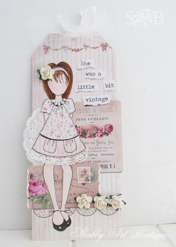 Shabby Art Boutique vintage girls 4
