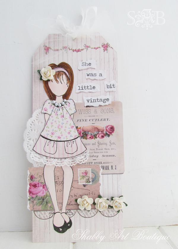 Shabby Art Boutique vintage girls 4