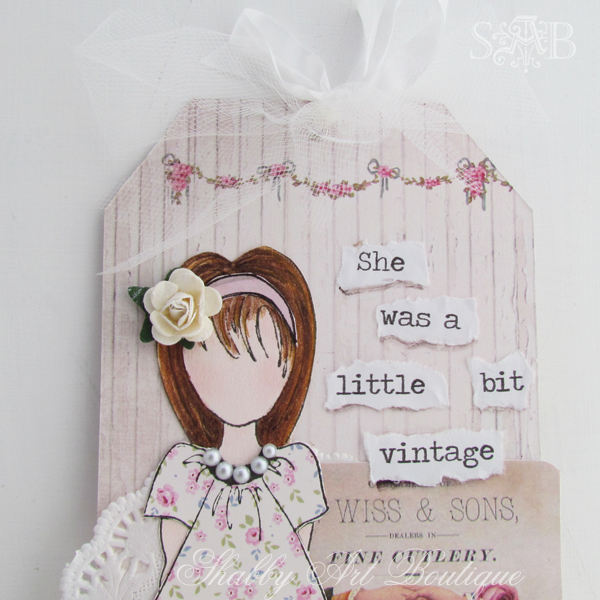 Shabby art Boutique vintage girls 3