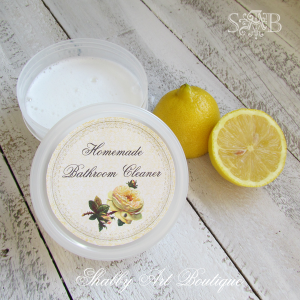 Shabby Art Boutique homemade bathroom cleaner recipe
