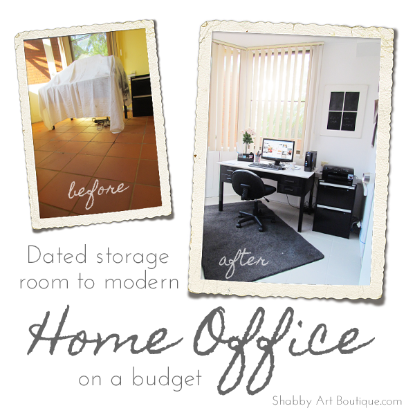 Shabby Art Boutique home office make-over 1