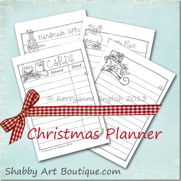 Christmas Planner Printables Free.Free Christmas Planner Shabby Art Boutique