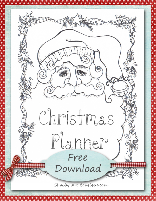 Shabby Art Boutique Christmas Planner