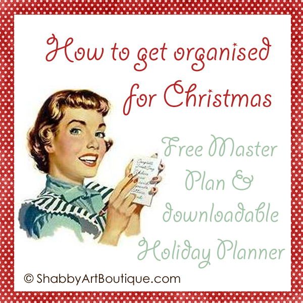 Shabby Art Boutique Holiday Master Plan