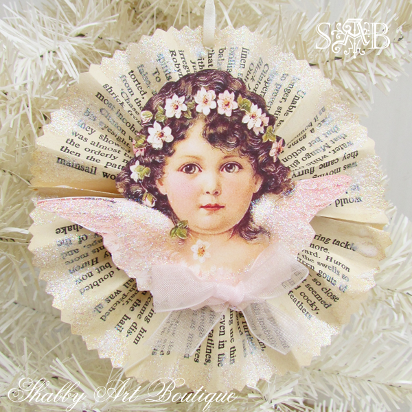 Diy shabby vintage christmas decor shabby art boutique for Angel decoration