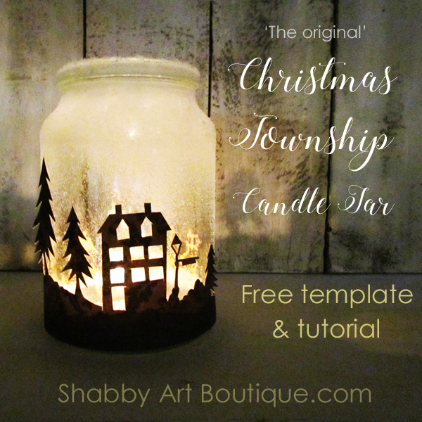 Shabby Art Boutique How To Make A Christmas Township