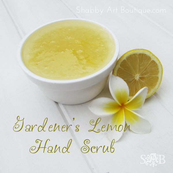 Shabby Art Boutique - Gardener's Lemon Hand Scrub 2