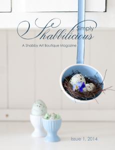 Simply Shabbilicious Magazine ~ Issue 1, 2014