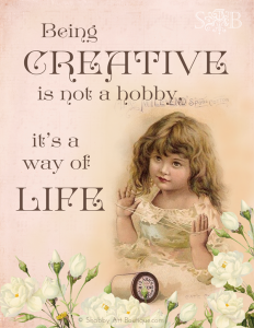 Shabby Art Boutique Creativity quote full size
