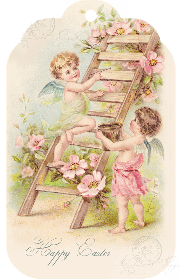 Shabby Art Boutique - free prinatble Easter tag 2014