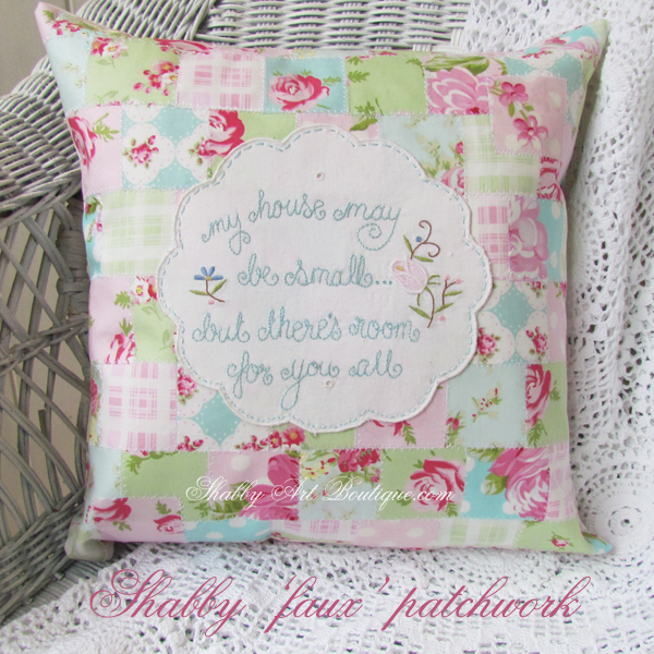 Shabby Art Boutique - shabby 'faux' patchwork 2