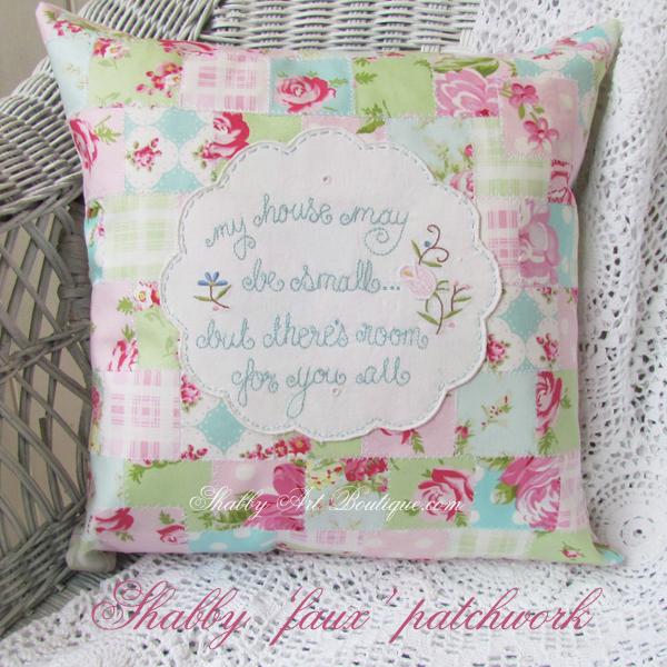 Shabby Art Boutique - shabby 'faux' patchwork 2