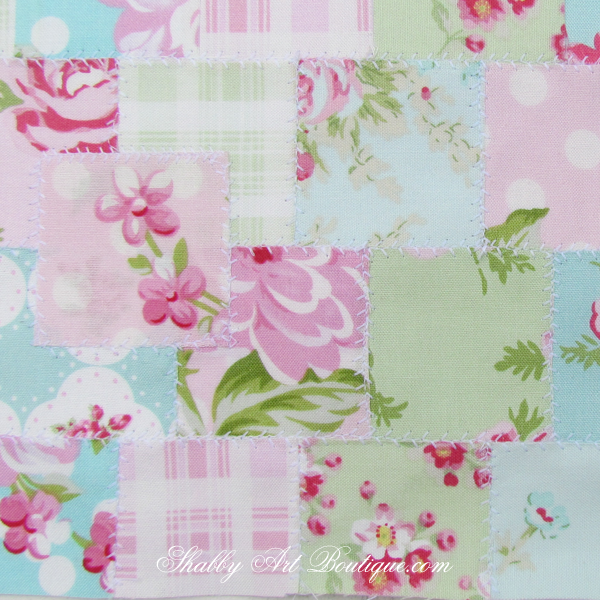 Shabby Art Boutique - shabby 'faux' patchwork 3