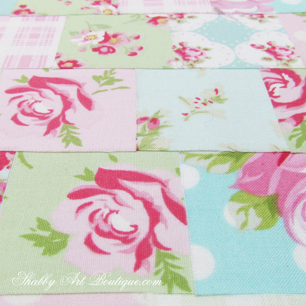 Shabby Art Boutique - shabby 'faux' patchwork 4