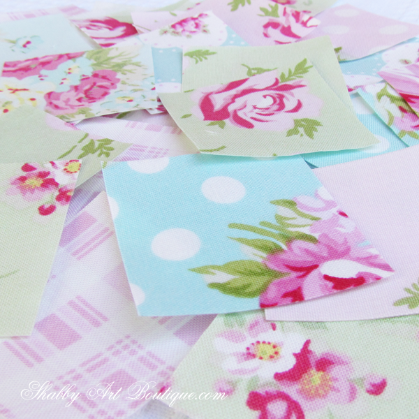 Shabby Art Boutique - shabby 'faux' patchwork 5