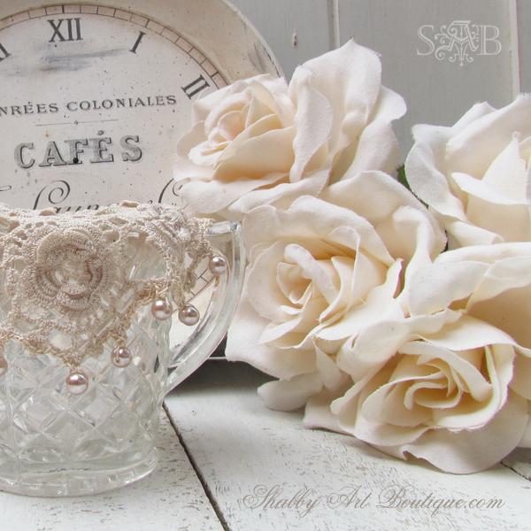 Shabby Art Boutique - vintage milk jug cover 2