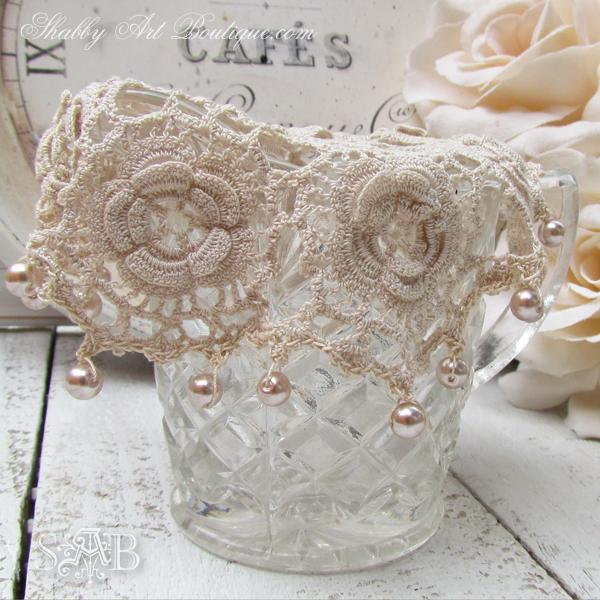 Shabby Art Boutique - vintage milk jug cover