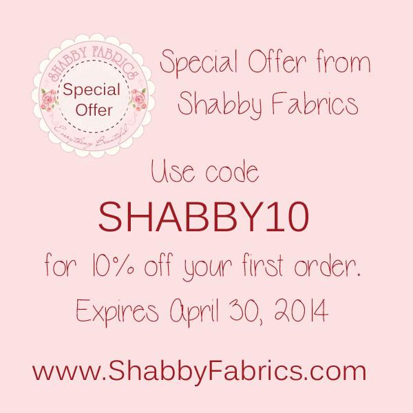 Shabby Fabrics offer for Shabby Art Boutique