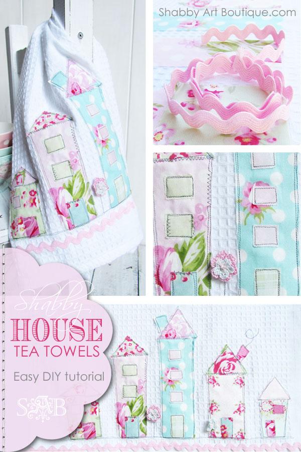 DIY Shabby House Tea Towels by Shabby Art Boutique