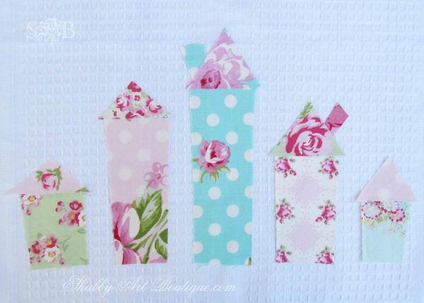 Shabby Art Boutique - Shabby House Tea Towel 3