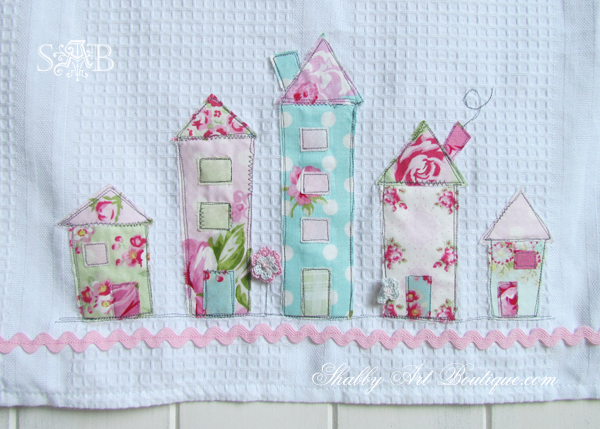Shabby Art Boutique - Shabby House Tea Towel 4