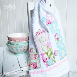 Shabby House Tea Towel Tutorial