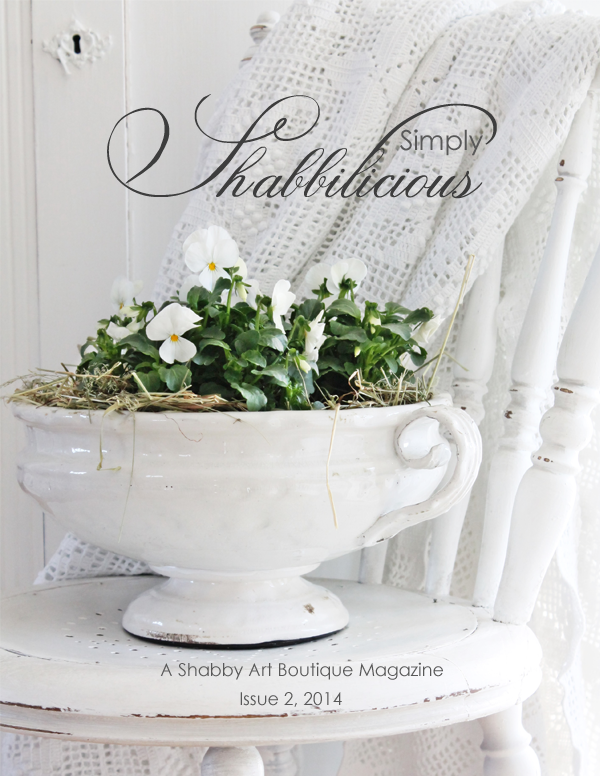Shabby Art Boutique - Simply Shabbilicious Magazine cover issue 2, 2014 (600)