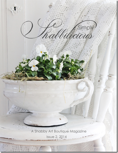 Shabby Art Boutique - Simply Shabbilicious Magazine cover issue 2, 2014 (FB)