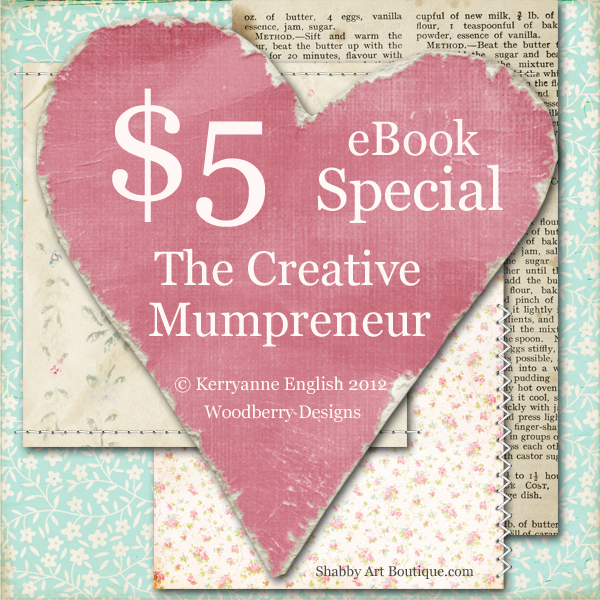 Shabby Art Boutique - The Creative Mumpreneur book special