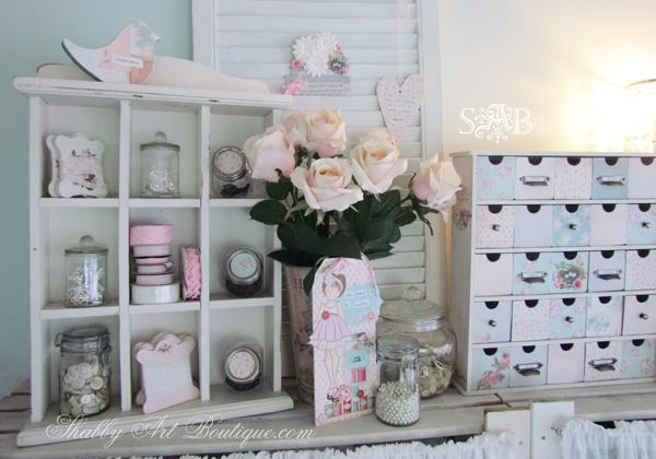 Craft room tour part 2 shabby art boutique for Shabby chic craft room