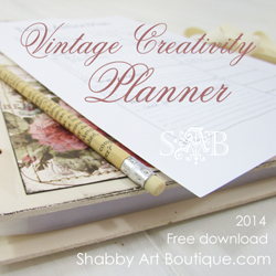 Free 2014 Vintage Creativity & Blog Planner
