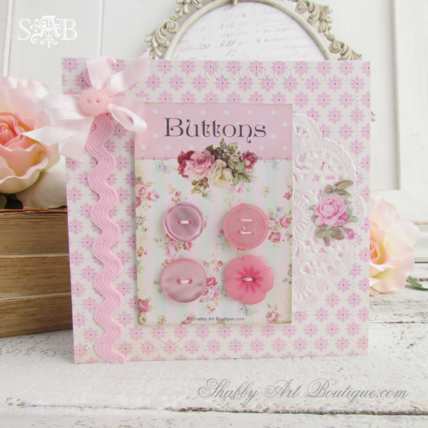Shabby Art Boutique - Button Cards 1