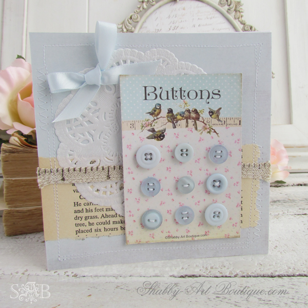 Shabby Art Boutique - Button Cards 2