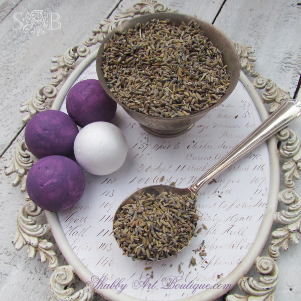 Shabby Art Boutique - Homemade Lavender Balls 1