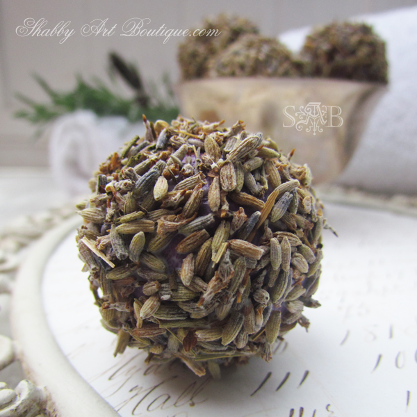 Shabby Art Boutique - Homemade Lavender Balls 2