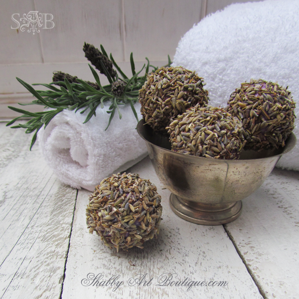 Shabby Art Boutique - Homemade Lavender Balls 3
