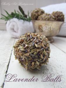 Homemade Lavender Balls