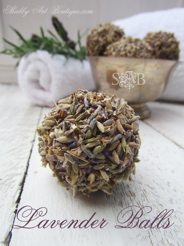 Shabby Art Boutique - Homemade Lavender Balls
