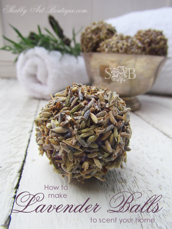 How to make lavender balls - quick and easy scented home project