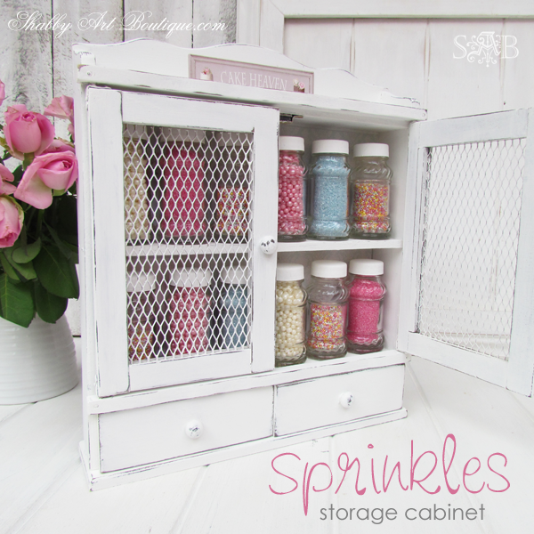 Shabby Art Boutique - Sprinkles Storage Cabinet