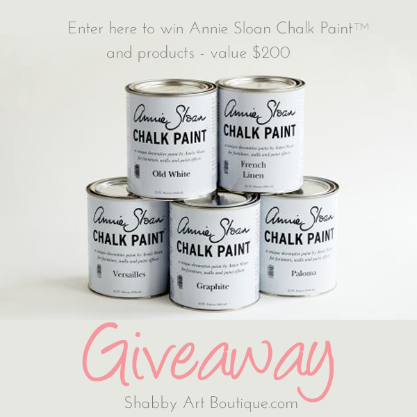Shabby Art Boutique - Annie Sloan Chalk Paint Giveaway July 2014