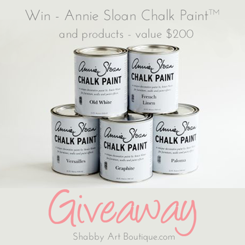 Shabby Art Boutique - Annie Sloan Giveaway - FB