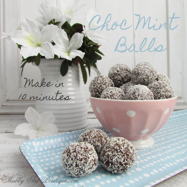 Shabby Art Boutique - Choc Mint Balls in just 10 minutes