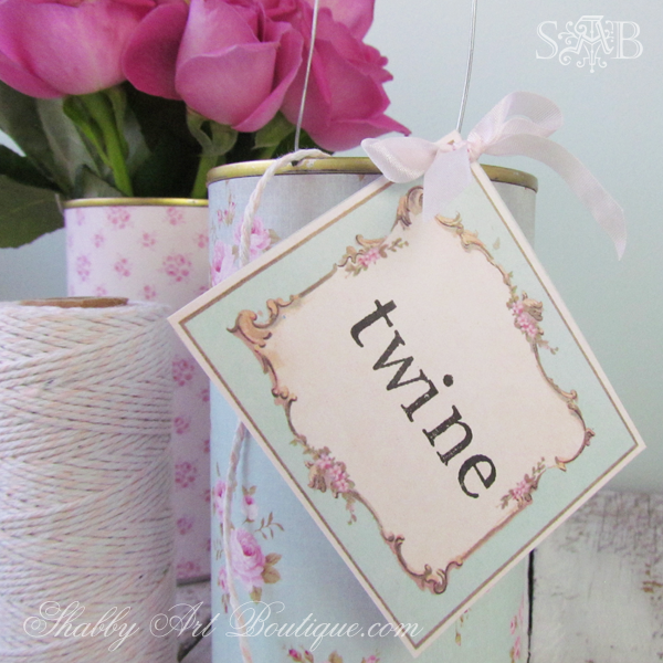 Shabby Art Boutique - Twine Tins 1