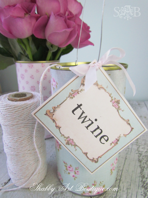 Shabby Art Boutique - Twine Tins
