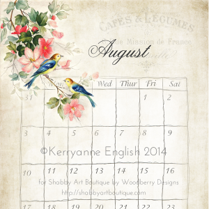 Shabby Art Boutique - Vintage Creative Planner 2014 - August