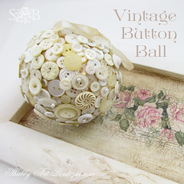 Shabby Art Boutique - Button Ball 14