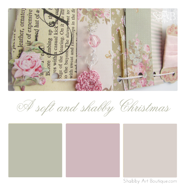 Shabby Art Boutique Christmas sneak peek colour palette