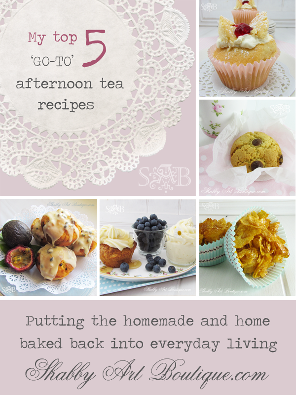 Shabby Art Boutique - top 5 easy 'go-to' afternoon tea recipes
